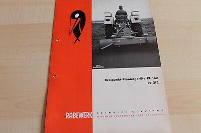 Rabewerk Planiergeräte Pl 182 212 Prospekt 04/1968 Bright 144691 Car & Truck Manuals Parts & Accessories