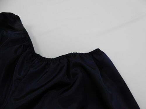 Navy  Polyester Satin French Knickers 14//16  with Pink   Lace