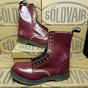 Détails sur SOLOVAIR 11 Eye Steel Cap Cherry Men's Boots UK 12 EUR 46,5 (pv:210£)