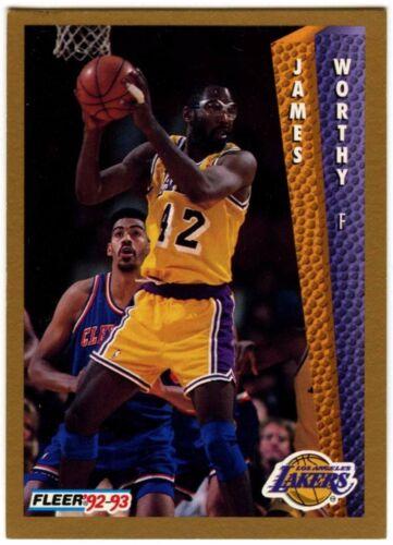 James Worthy #114 Los Angeles Lakers Tarjeta de baloncesto Fleer C508