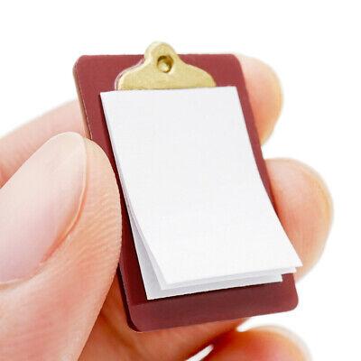 Mini Dollhouse Miniature Accessories Alloy Clipboard with Real Paper Attac ri