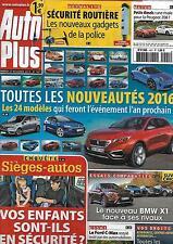 AUTO PLUS N°1421 27 NOVEMBRE 2015  NOUVEAUTES 2016/ SIEGES-AUTOS/ BMW X1/ JAGUAR