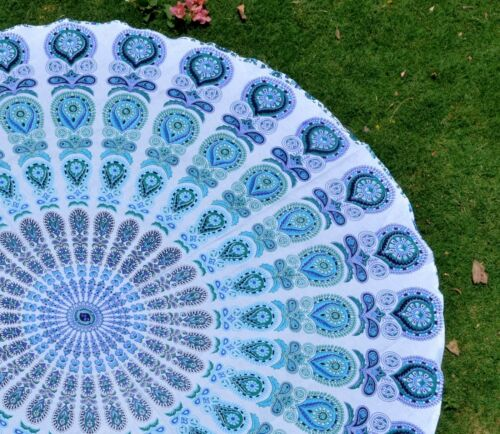 Indian Hippie Mandala Round Beach Picnic Throw Tapestry Wall Hanging Yoga Mat