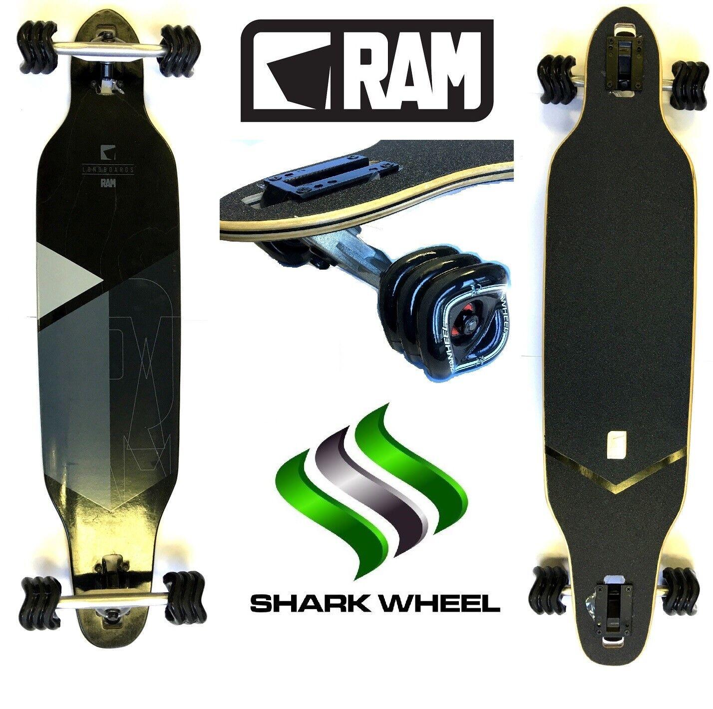 F26 Longboard RAM Solitary Solitary Solitary 2.0  mit Sidewinder   Mako Shark Wheels galileo abec9 cf4a4a