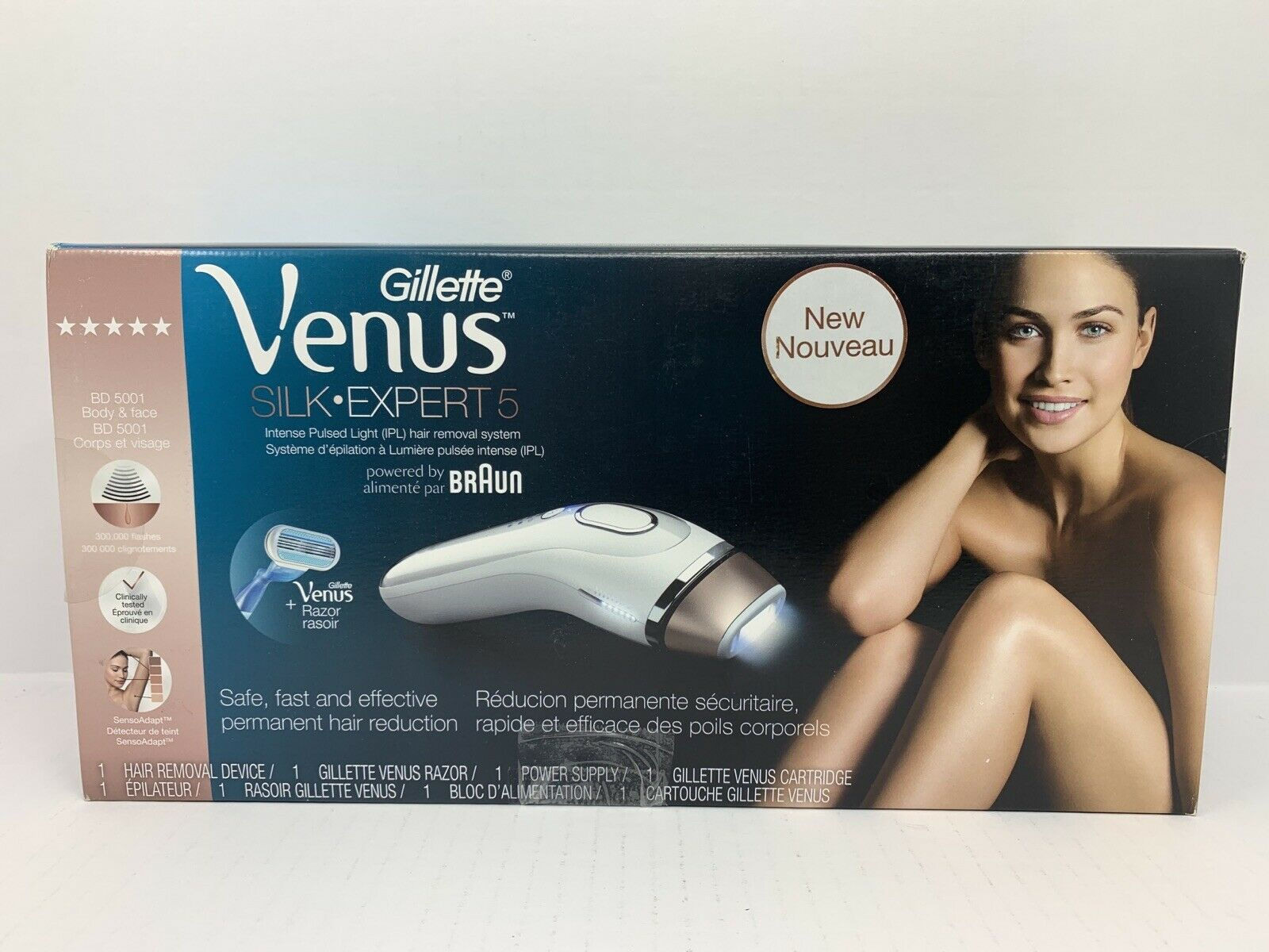 Braun Gillette Venus Naked Skin Ipl Hair Remover For Sale Online