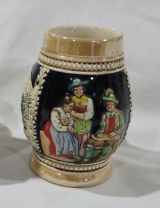 VINTAGE-CERAMIC-BEER-STEIN-MUG-WEST-GERMANY-GERMAN-CUSTOMERS