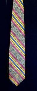 RARE-VINTAGE-WIDE-1970-039-S-1980-039-S-UNUSUAL-SILK-WOVEN-BROCADE-TIE-59-034-L-X-4-1-2-034-W