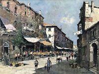 Impressionismus Ölgemälde Venedig Venezia Italien Italia O.Hellmeier Raisting~60