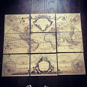 World map print guillaume de lisle mappe monde large world map image is loading world map print guillaume de l 039 isle gumiabroncs Gallery