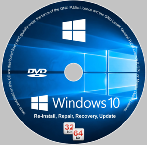 Details about Windows 10 32/64-bit All Versions Install Reinstall Recovery  DVD Disc or USB