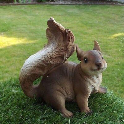 Gartenfigur Eichhörnchen 8940 Haus Garten Deko lebensecht Figur
