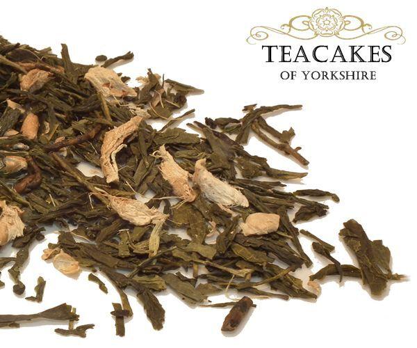 Ginger Green Tea Loose Leaf Best Quality 100g 250g 500g 1kg Caddy Gift Set