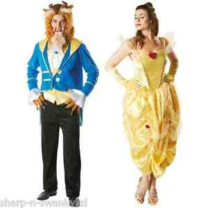 Image is loading Mens-Ladies-Couples-Disney-Beauty-AND-the-Beast-  sc 1 st  eBay & Mens Ladies Couples Disney Beauty AND the Beast Fancy Dress Costumes ...