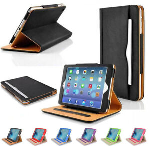 Genuine-Magnetic-Leather-Flip-Case-Cover-For-Apple-iPad-New-2017-2018-Air-1-2