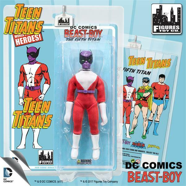 THE TEEN TITANS retro Series 2 BEAST BOY variant 8 INCH ACTION FIGURE NEW
