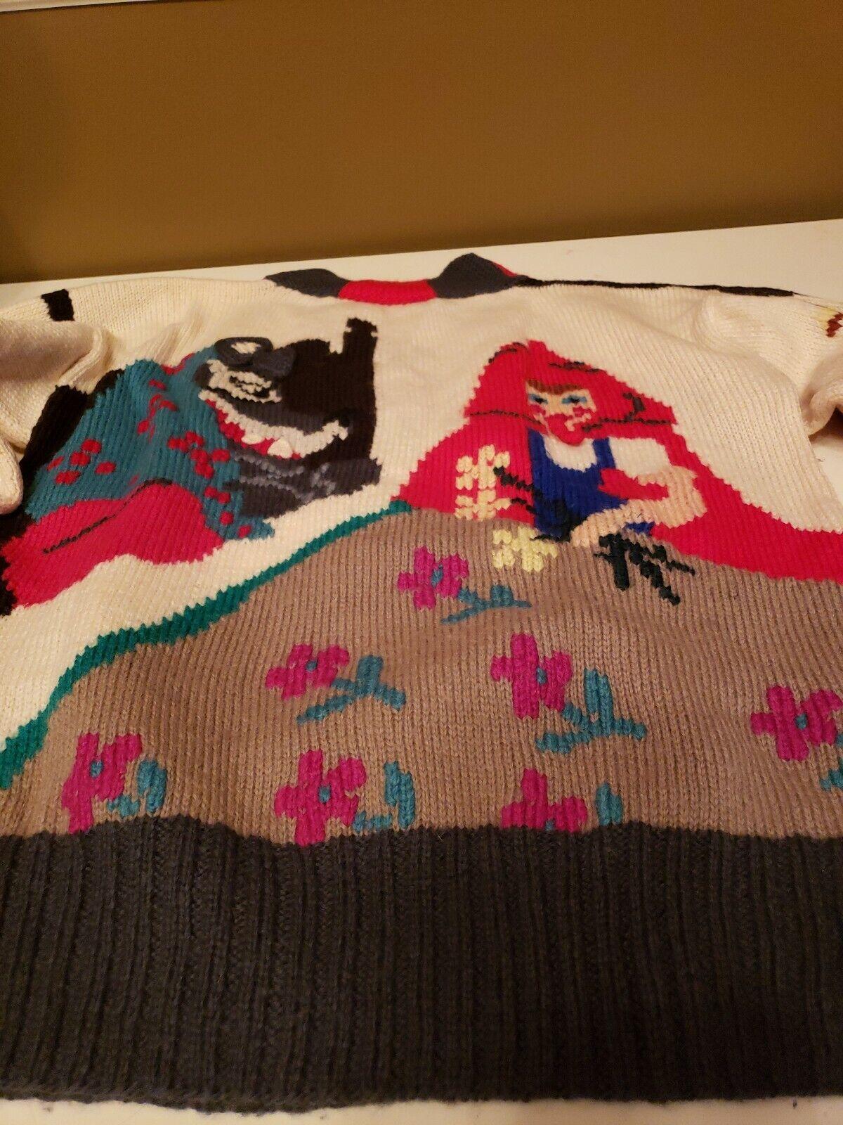 VTG Berek Sweater Little Red Riding Hood  See photos photos photos for size 16d043