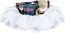 White Satin Neck Ruff Victorian Tudor Masquerade Venetian Carnival Fancy Dress