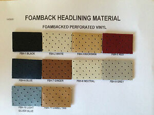 Perforated Vinyl Foam Backed Headliner Material New Free