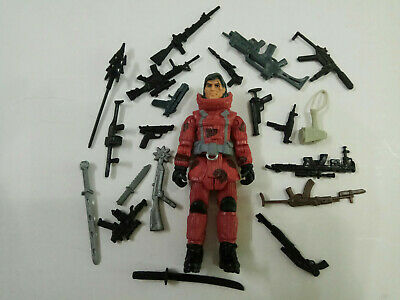 "3.75/"" Special Forces Lanard Corps Red Assault Warrior Figure with Weapons"