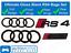 AUDI-RS4-Anillos-Brillo-Negro-Rejilla-amp-Bota-Insignia-Emblema-Set-Conjunto-Completo-De-Black-Out miniatura 1