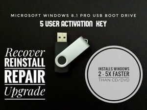 Microsoft-Windows-8-1-Pro-Installation-USB-drive-32-amp-64-Bit-5-User-Key-Code