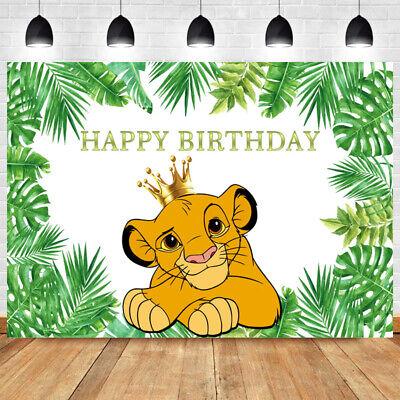 Lion King Simba Photography Backdrop Kids Happy Birthday Crown Photo Background Ebay Lion king crown hipster vintage logo by vastard. lion king simba photography backdrop kids happy birthday crown photo background ebay