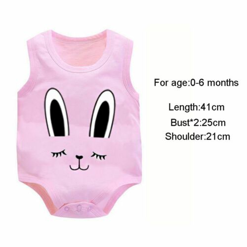 Bodysuit Outfits Boys Girls Sleeveless Cotton Baby Romper Cartoon Animal