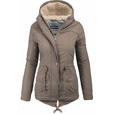 Urban Surface warme Damen Winter Jacke Parka Mantel Winterjacke Teddyfell B294