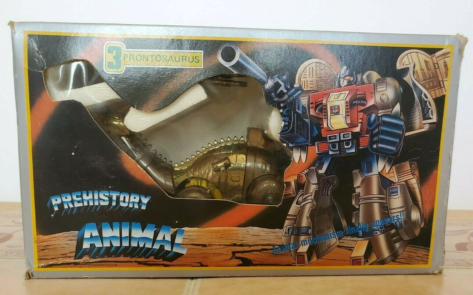 Prehistory SLUDGE Prontosaurus Transformers Diaclone with Box Pre G1 Taiwanese