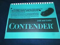 Thompson Contender Pistol Manual, 24 Pages
