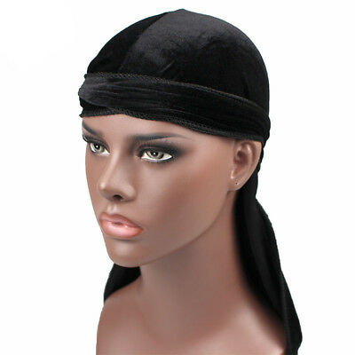 Unisex Men Women Soft Breathable Bandana Hat Doo Durag Long Tail Cap Headwrap