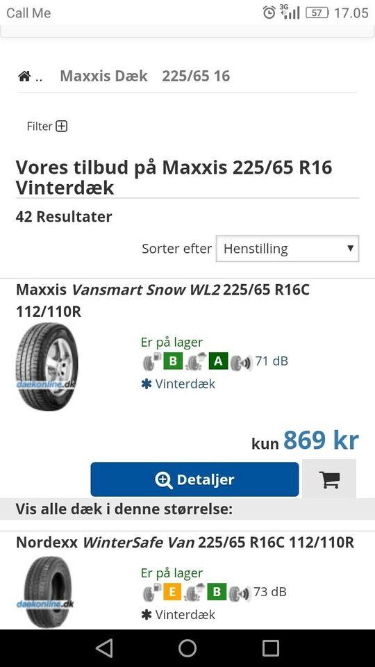 Vinterdæk, Maxxis, 225 / 65 / R16