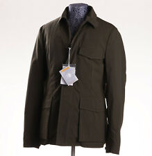 NWT ASPESI Olive Green Field Jacket with Detachable Wool Lining Slim L Coat