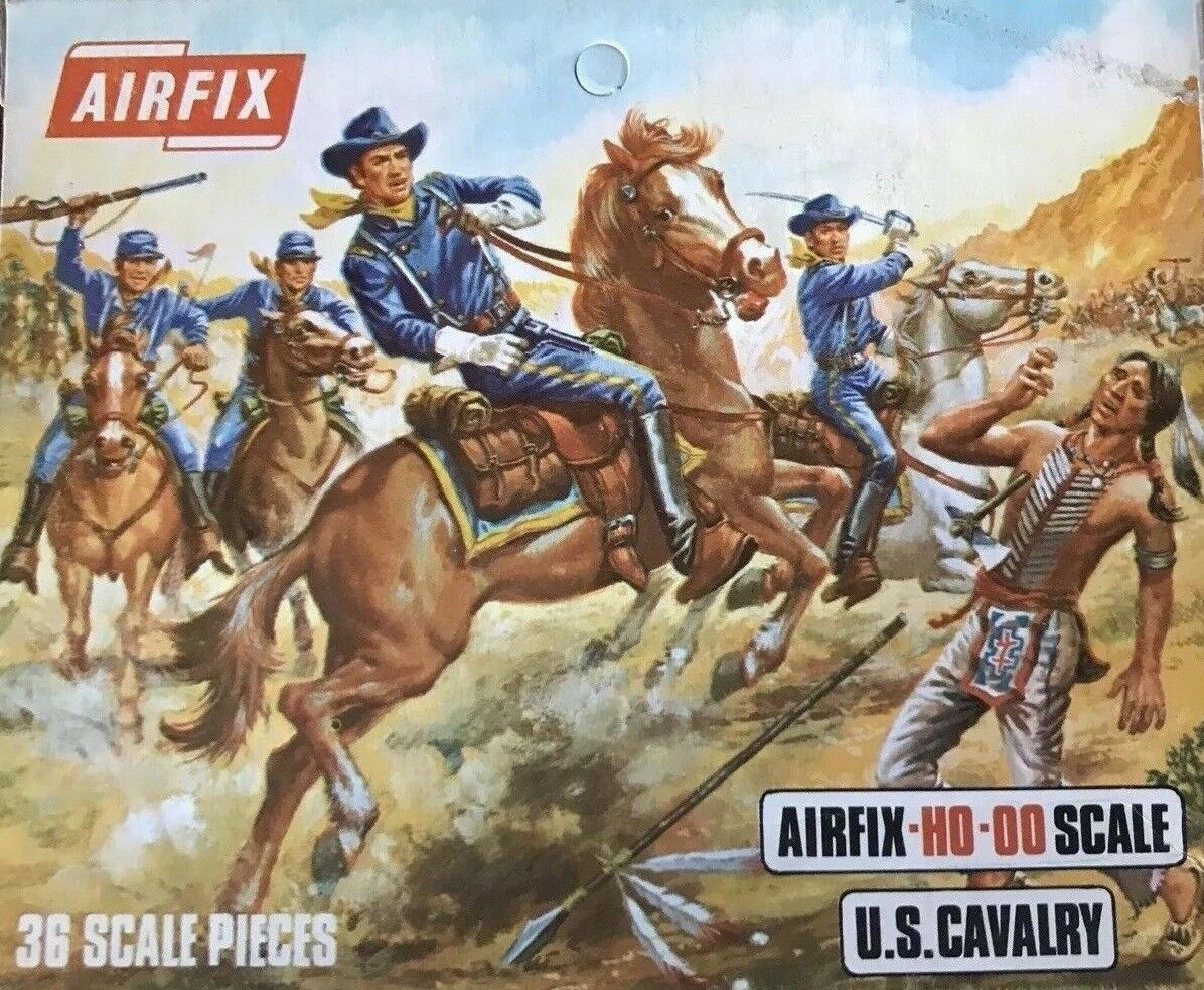 Airfix US Cavalry HO-OO Scale 2nd Version Box With Window 36 Scale Pieces