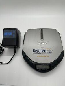 Sony Discman ESP Mega Bass D-E301 Portable CD Player w/ Power Cord Tested