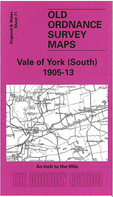 OLD ORDNANCE SURVEY MAP VALE OF YORK SOUTH 1905-1913 BUBWITH CAWOOD SELBY
