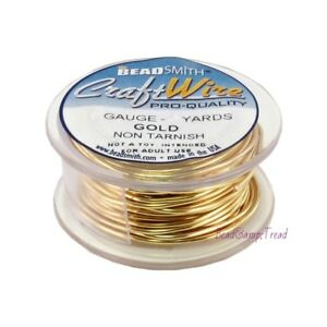 Beadalon natural Non-tarnish Brass Brand New - Artistic Wire 28 Gauge 15yd