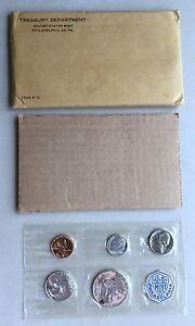 USA-1955-Proof-Set-Philadelphia-in-Umschlag-Silber-PP-polierte-Platte-1c-50c