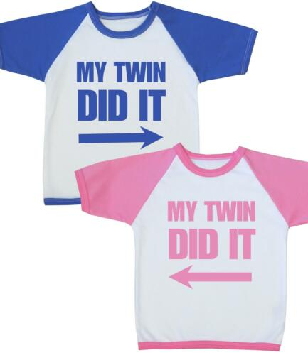 BabyPrem Baby Kids Clothes Boys Girls TWINS T-Shirt Tee Tops Birthday Gifts 1-4y
