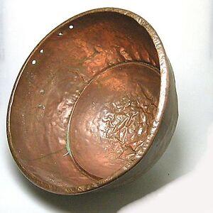 Grosser-antiker-Bonbonkessel-Kupfer-ca-38-x-23-cm