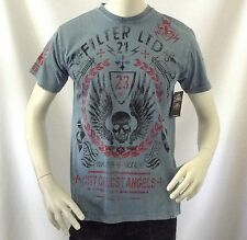 NEW Filter Men's Fashion slim fit T-Shirt YOU'LL NEVER WALK ALONE Med originalm
