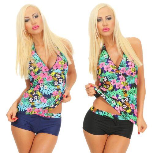 4215 da Donna Tankini Bikini Set 2 pezzi geblümt Costume da bagno Costumi da bagno Beachwear
