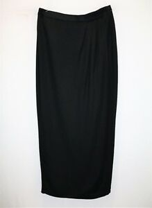 MR-K-Brand-Women-039-s-Black-Wrap-Style-Maxi-Skirt-Size-10-LIKE-NEW-AN02