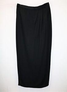 MR-K-Brand-Women-039-s-Black-Wrap-Style-Maxi-Skirt-Size-10-LIKE-NEW-AN02