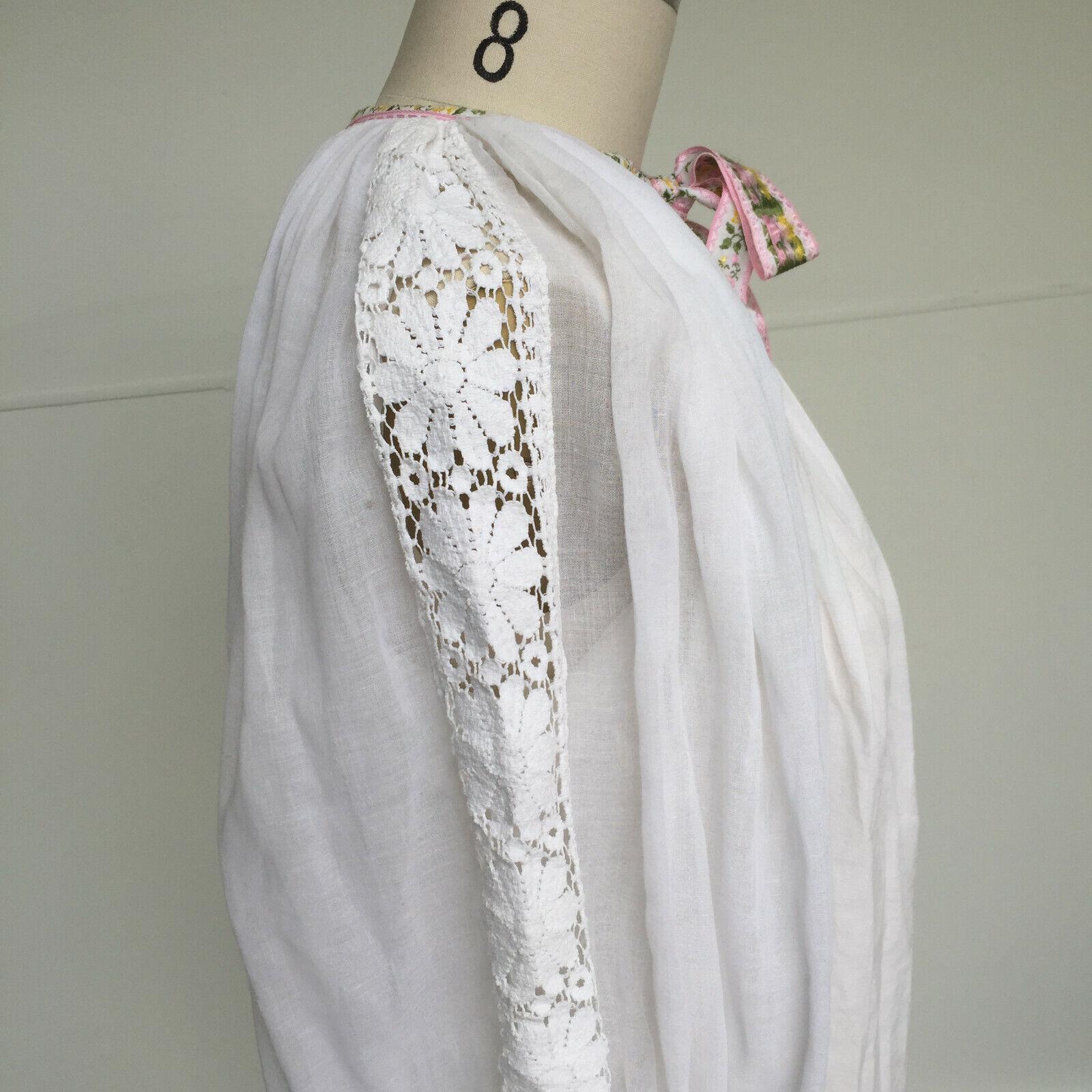 VTG 1970s Hungarian Handmade Textured Boho-Chic P… - image 3