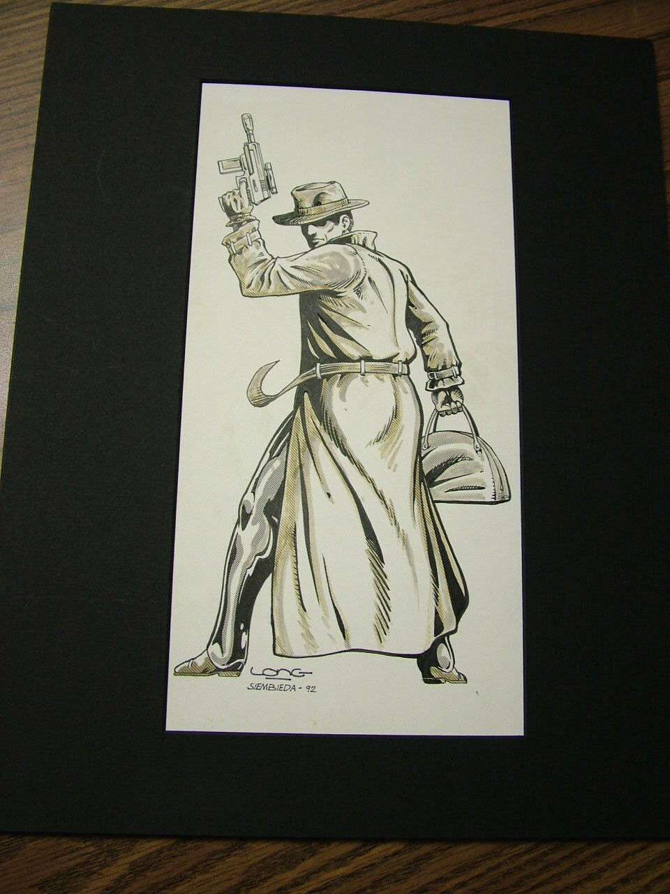 Villains Unlimited  Kevin Long & Siembieda original art, matted - signed 5