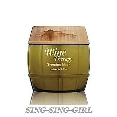 Holika Holika Wine Therapy Sleeping Mask Pack White Wine 120ml sing-sing-girl