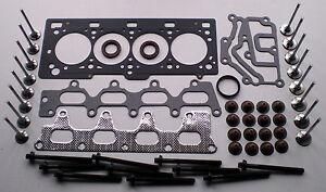 HEAD GASKET SET BOLTS 16 VALVES CLIO KANGOO MEGANE LAGUNA SCENIC 1.4 1.6 K4M K4J