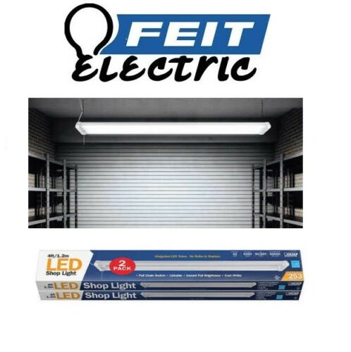2 Pack Feit 4ft Linkable Led Shop Light Electric 42w Pull