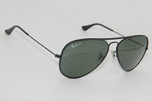 57abb5937b4cd RAY-BAN RB 3025-J-M 002 58 BLACK POLARIZED AUTHENTIC SUNGLASSES 58 ...